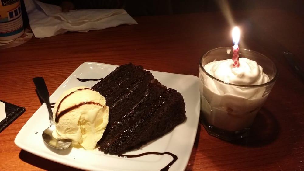 My birthday chocolate cake with vanilla ice cream, very ...