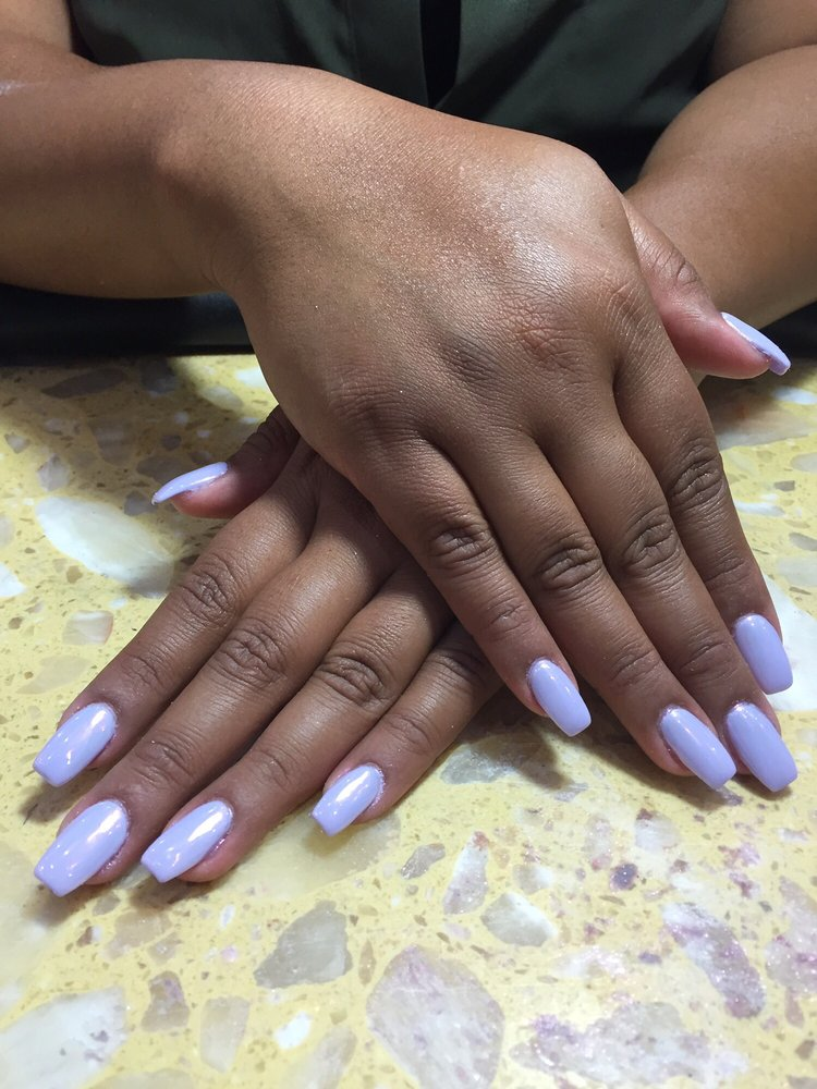 Pearl white chrome with a no chip manicure done by Kim!!! - Yelp