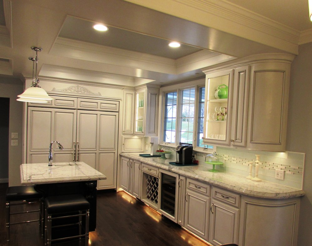 White cabinetry in a kitchen remodel in Myersville, MD by Talon ...