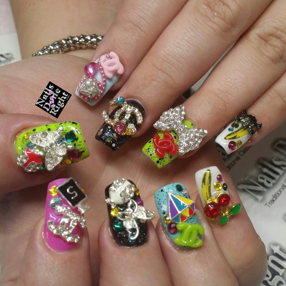 Japanese 3D nail art inspired by the girls from Harajuku Japan - Yelp