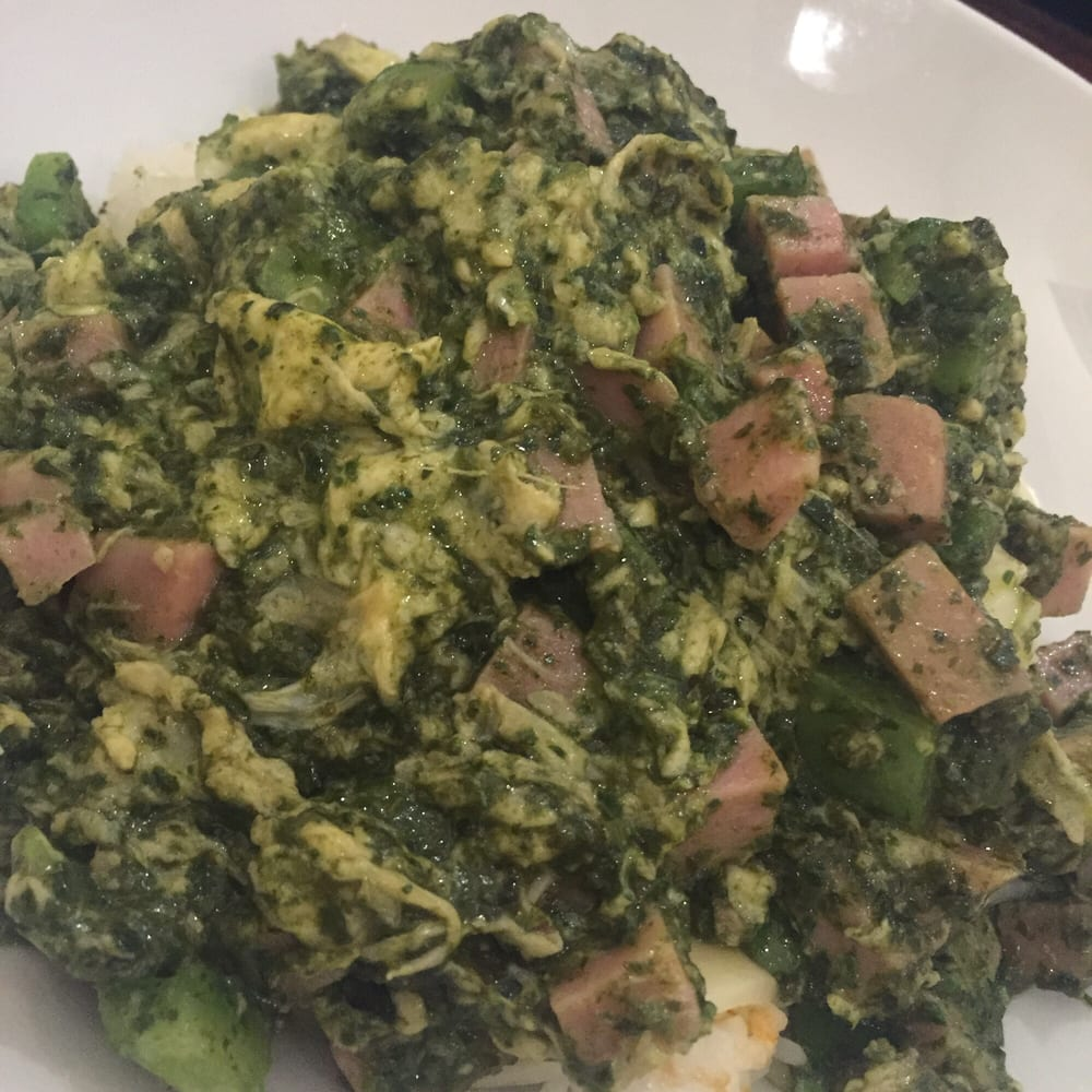 Danny Tanner Dish Green Eggs N Spam Over Rice Yelp
