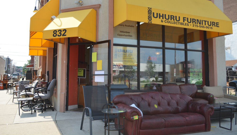 Photo of Uhuru Furniture & Collectibles - Philadelphia, PA, United States. Located on the corner of Broad and Parrish, we have a variety of furniture to check out even before you step foot into the store.
