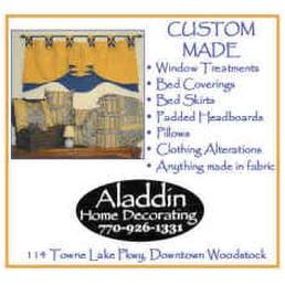 Aladdin Home Decorating Furniture Reupholstery 114 Towne Lake Pkwy Woodstock Ga Phone