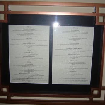 The Venetian Room Orlando Menu