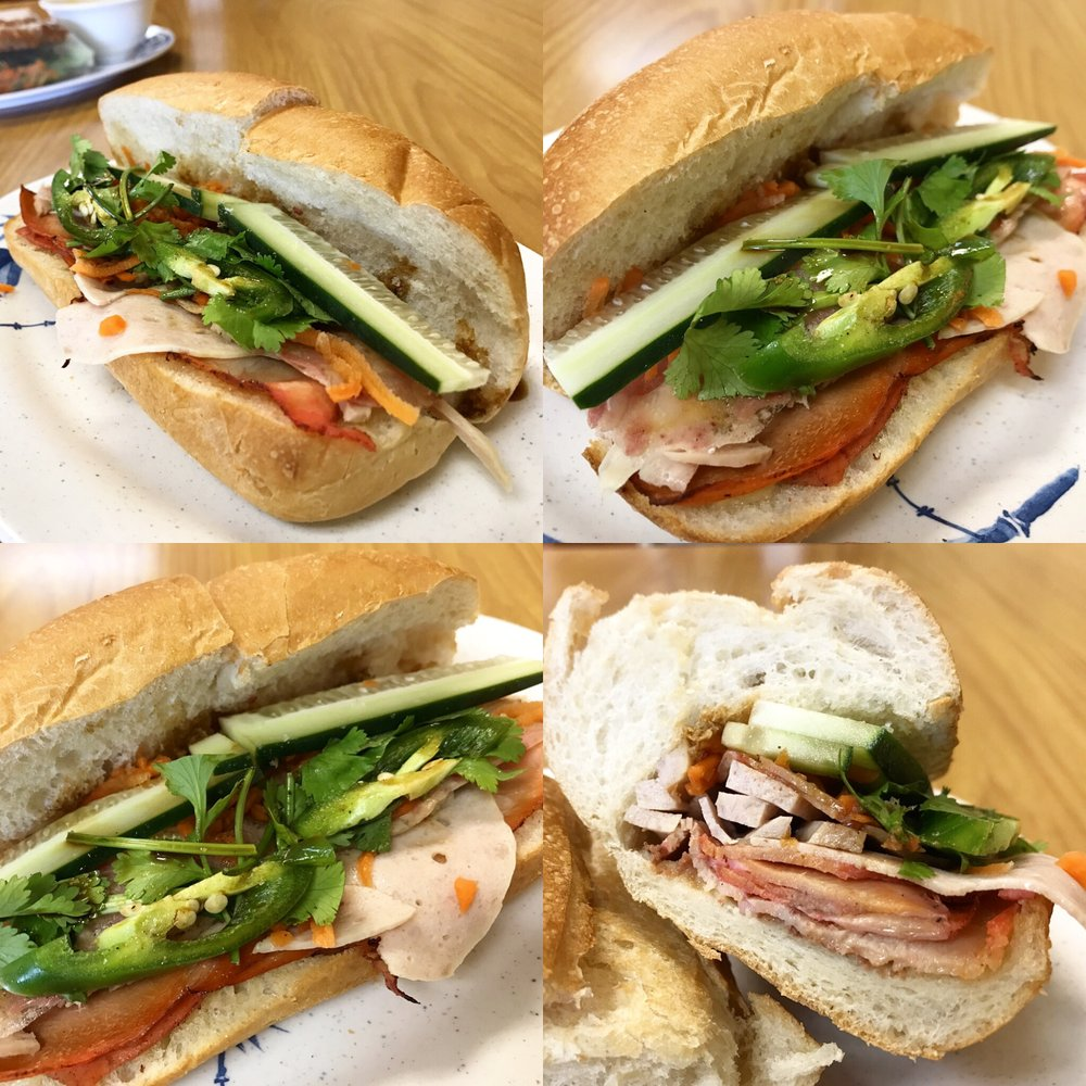 Bánh Mì Thịt Nguội Or Vietnamese Sandwich With Pork And