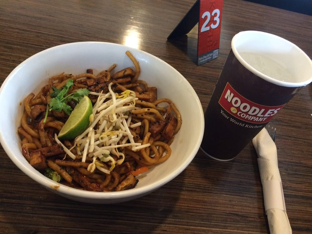 Vegan japanese noodles with tofu and a side of water yelp for Aoi japanese cuisine newport ky