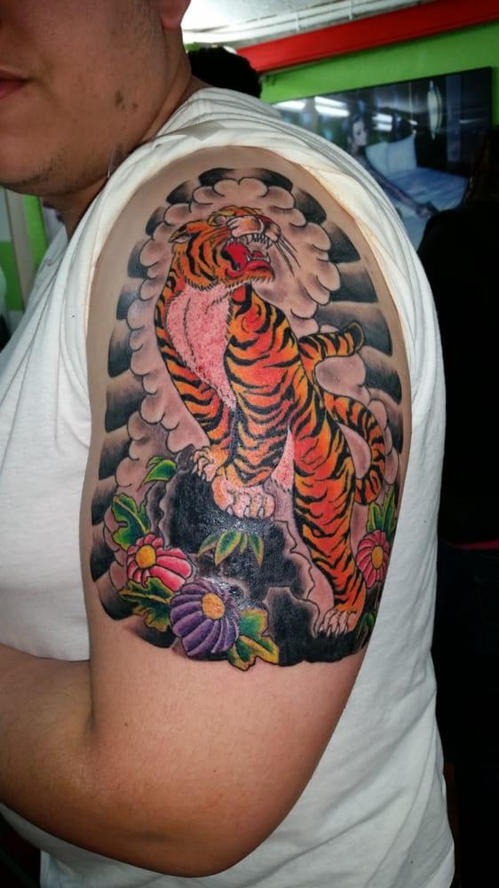 Japanese Tiger Tattoo On Left Arm Yelp