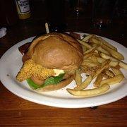 Catfish BLT (cornmeal crusted fried catfish, bacon, tomato, and ...