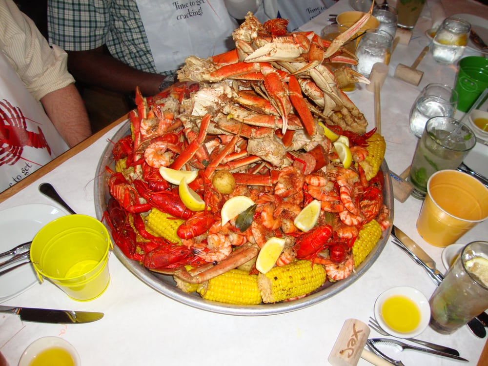 Another picture taken of our crab boil feast jax fish for Jack s fish house