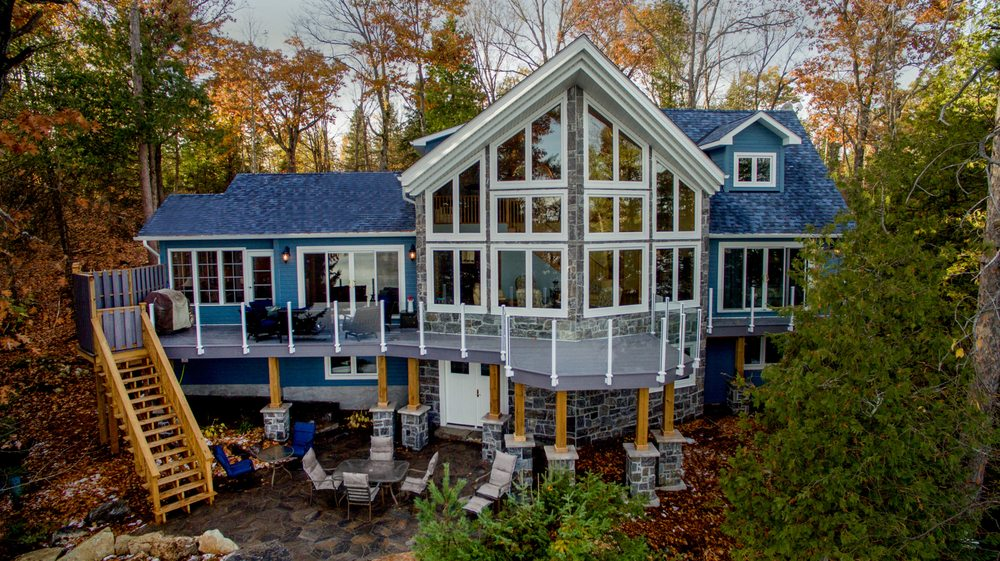 Stoney lake design planning get quote 10 photos for Lakefront cottage plans canada