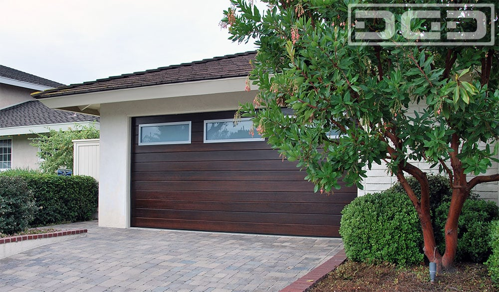Los Angeles Ca Custom Made Wood Garage Door In A Mid