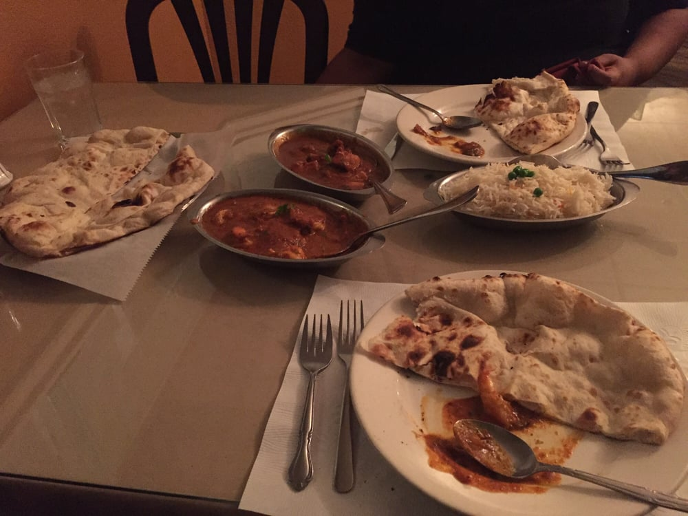 Shrimp and chicken curry naan bread and white rice yelp for Ajanta cuisine of india oklahoma city
