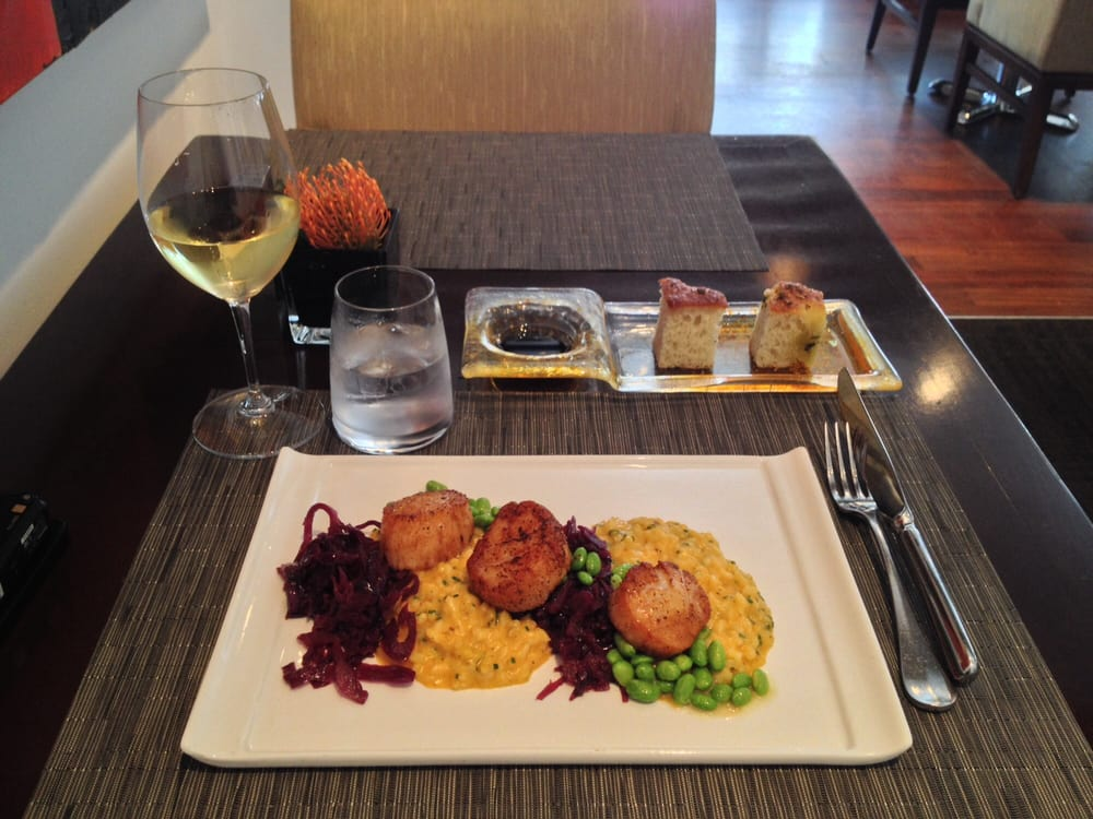 Scallops risotto on lunch menu. - Yelp