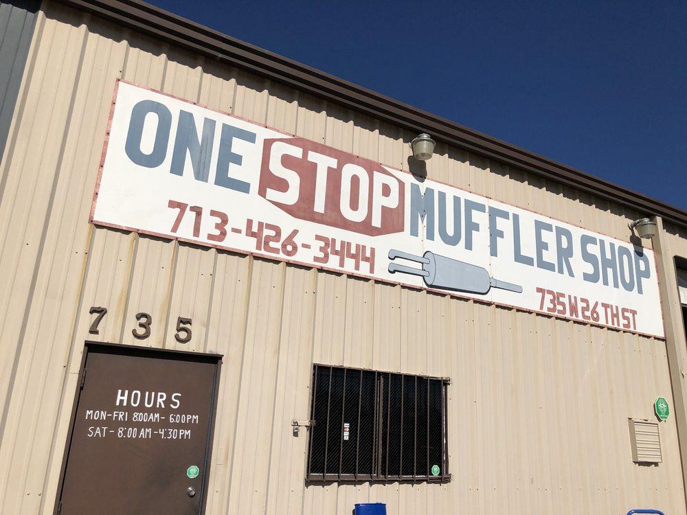 One Stop Muffler Shop: 735 W 26th St, Houston, TX