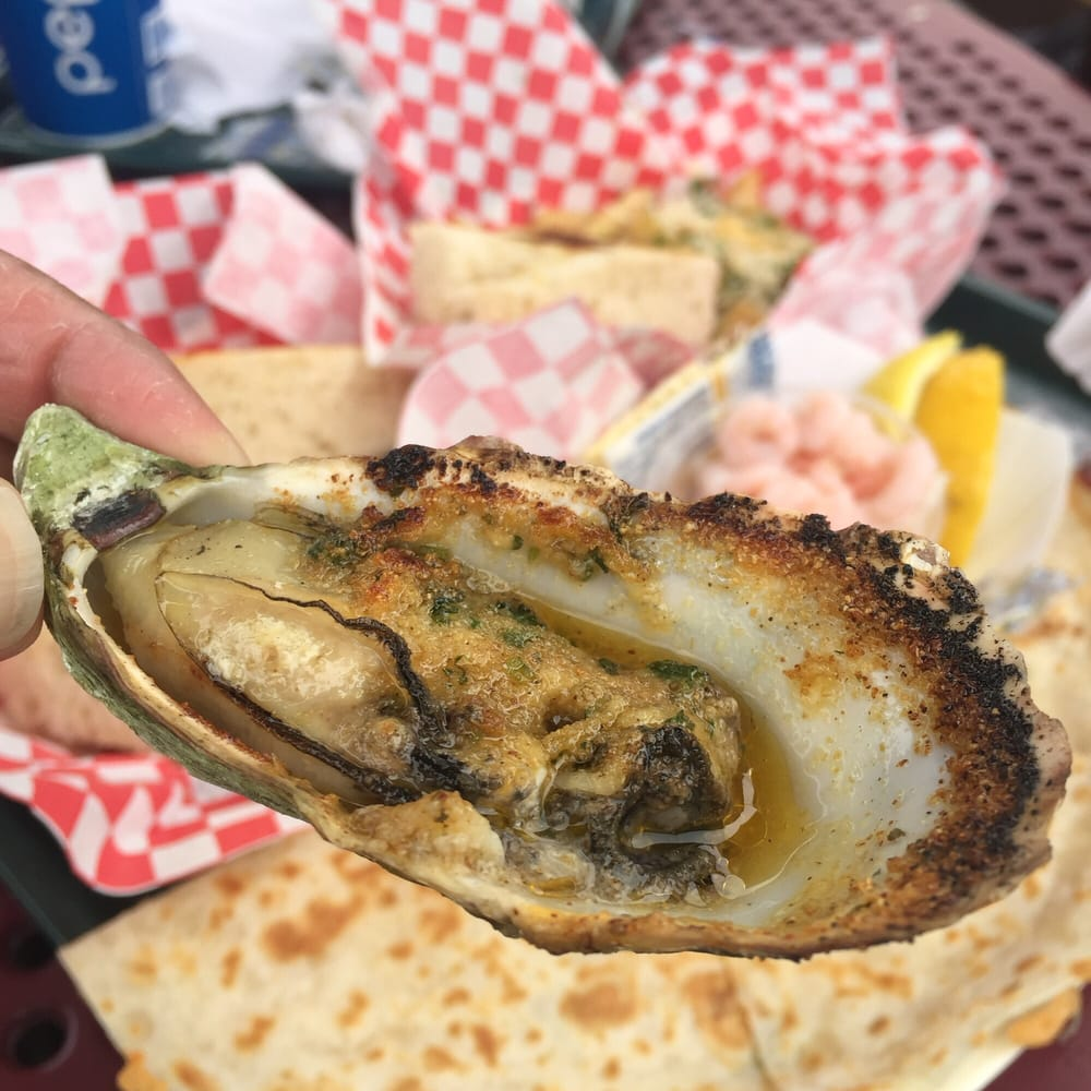 Bbq oyster garlic butter version yelp for Giovanni s fish market