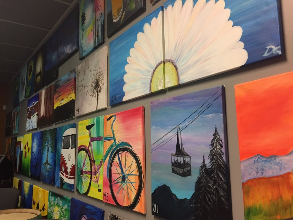 Some of the paintings offered yelp for Paint and wine albuquerque