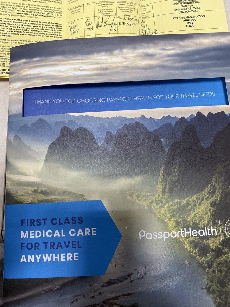 Passport Health: 8324 E Hartford Dr, Scottsdale, AZ