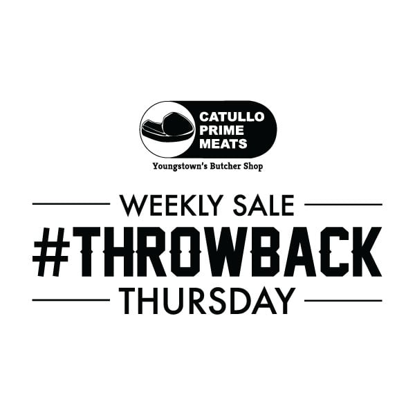 every thursday we  throwback pricing  text catullo to 313131 to find out whats on sale every