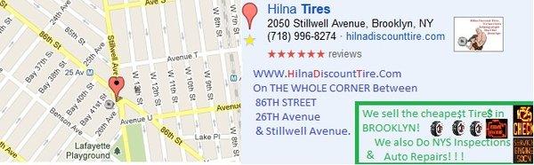 Hilna Tires 2050 Stillwell Ave Brooklyn, NY Batteries