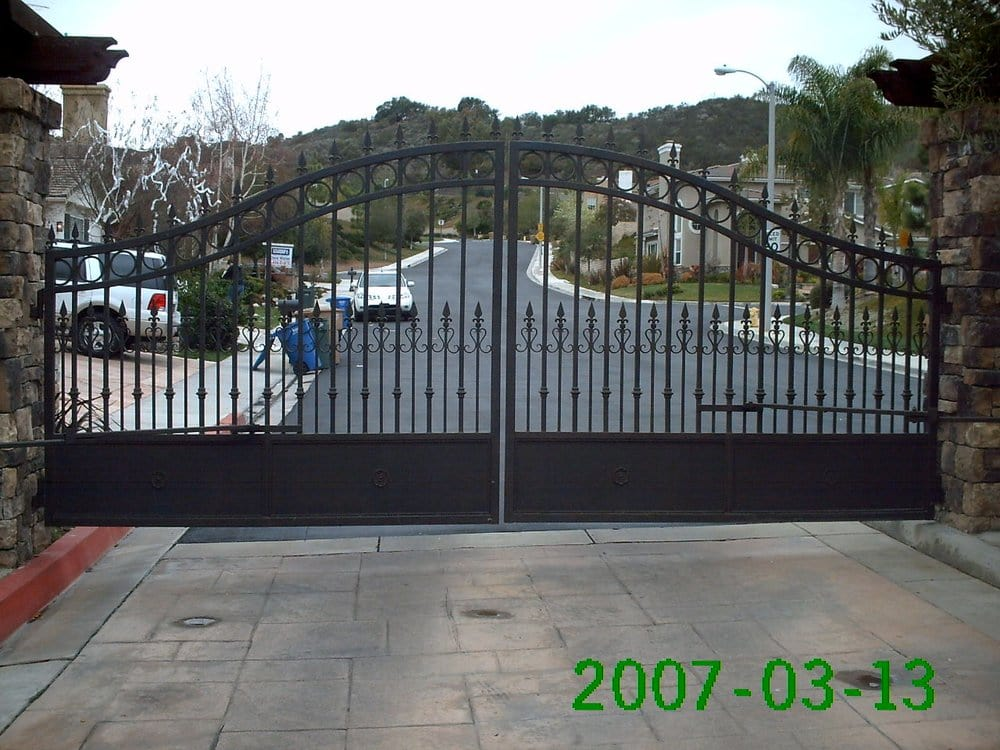 how to fix a sagging wrought iron gate