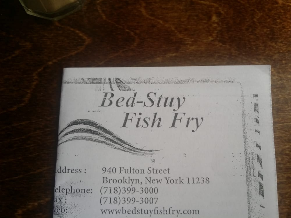 Menu yelp for Bed stuy fish fry