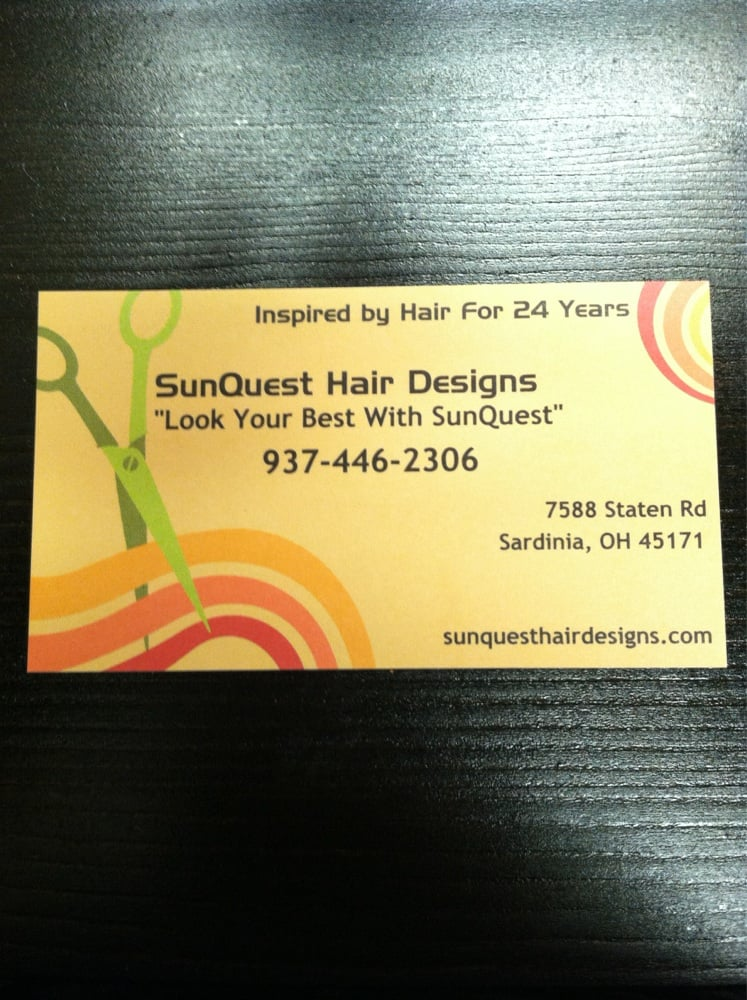 Sunquest Hair Designs: 7588 Staten Rd, Sardinia, OH