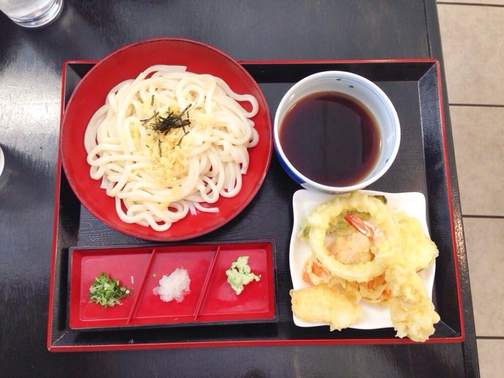 Cold udon with tempura yelp - Yoshi japanese cuisine ...