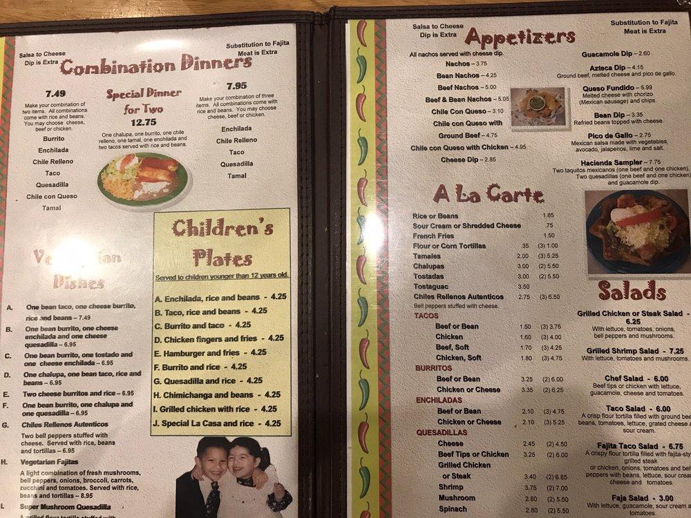 Hacienda Mexican Restaurant Logan Wv
