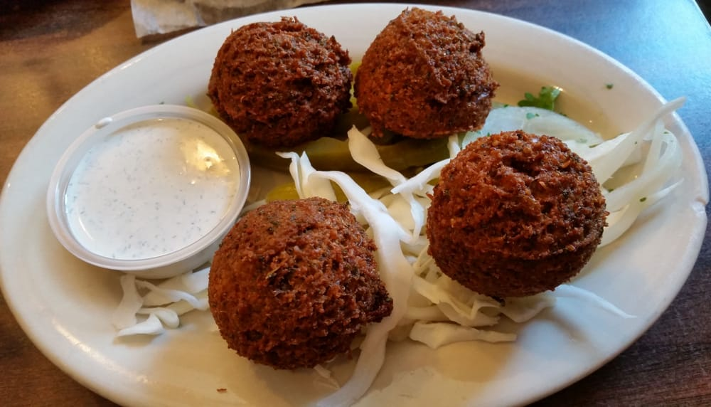 Falafel 4 pcs for w tahini sauce yelp for Aladdin mediterranean cuisine houston tx