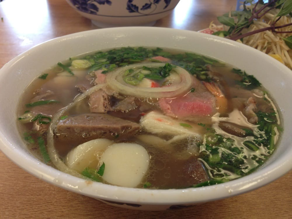 House combo pho has all the meat of typical pho plus for Asian cuisine and pho