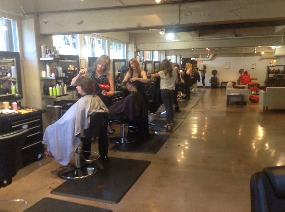 Teams hard at work yelp for 77 salon portland