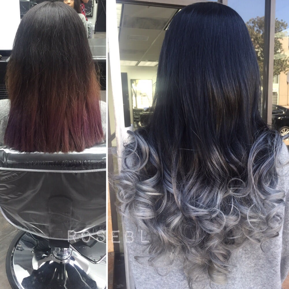 Beforeafter Keratin Individual Hair Extensions Created A Black To