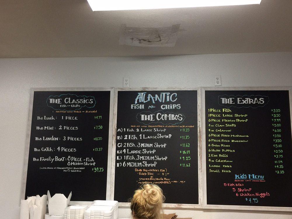New menu yelp for Atlantic fish menu