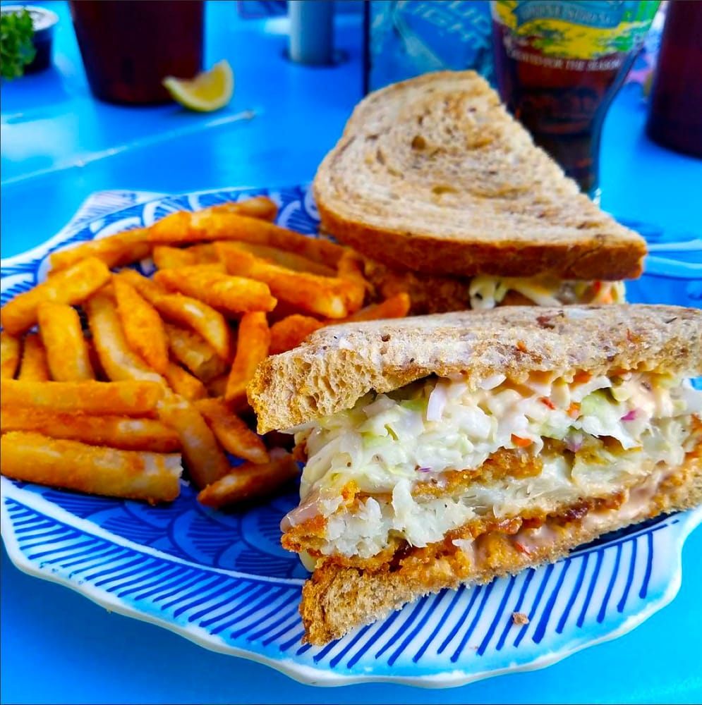 Fish House Restaurant Fort Myers Beach: Crunchy Grouper Reuben: A Fish House Favorite Served With
