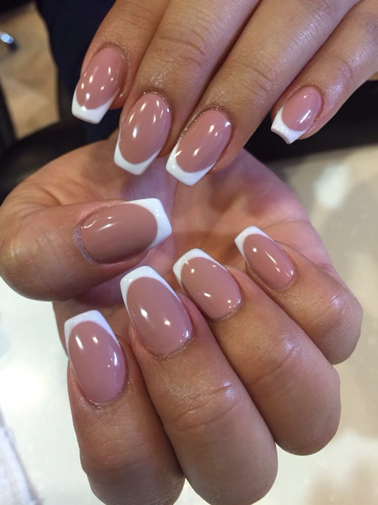 I\'m loving this untraditional French Tip Ballerina Acrylic fill done ...