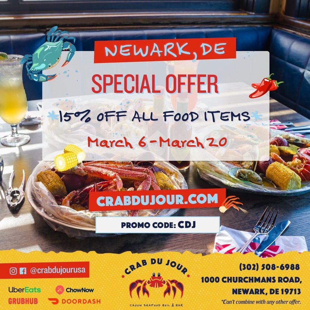 Crab Du Jour - Newark: 1000 Churchmans Rd, Newark, DE