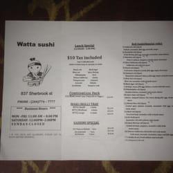 watta sushi japanese 837 sherbrook st winnipeg mb restaurant reviews. Black Bedroom Furniture Sets. Home Design Ideas