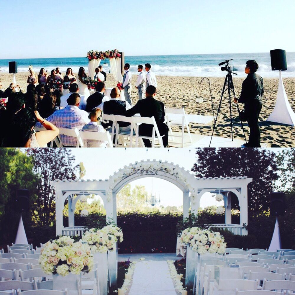 We Provided A Sound System For Your Wedding Ceremony That Comes
