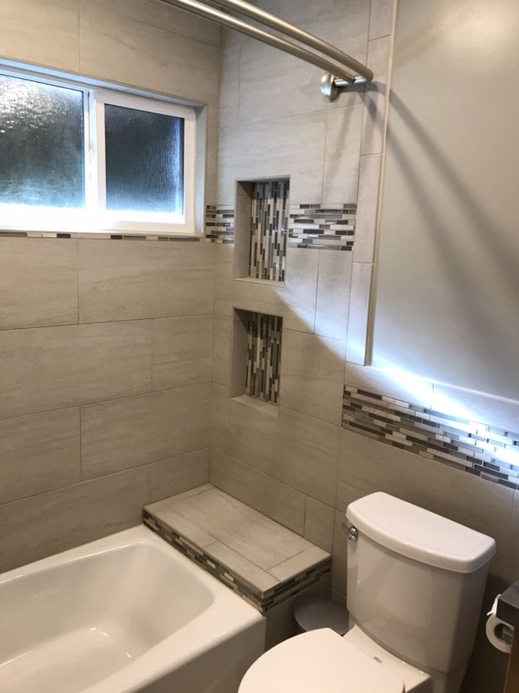 Full Bathroom Remodeling Transferred And Changed Old Plumbing The - Bathroom remodel torrance ca