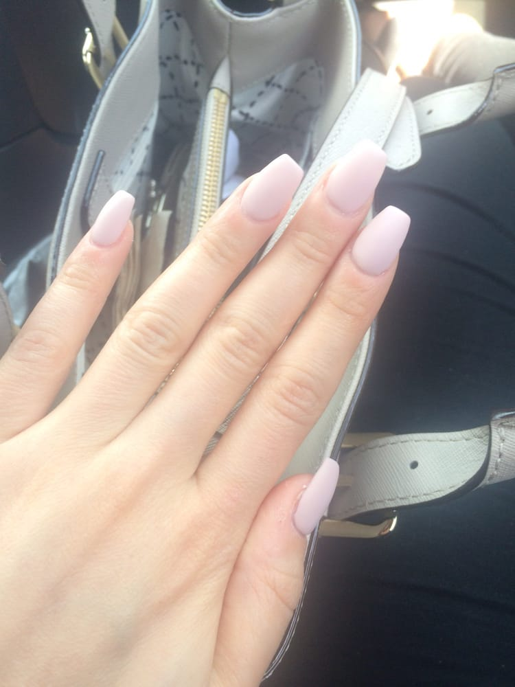 Matte nude pink acrylic nails by Tammy! - Yelp