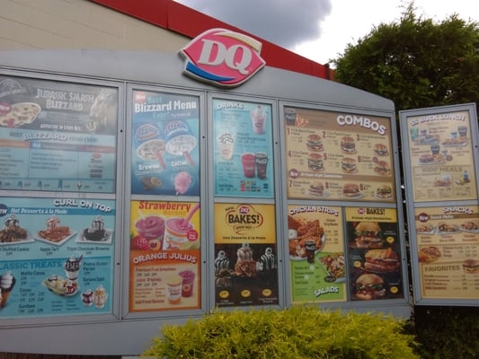 Dairy queen desserts 1607 chillicothe st portsmouth oh photo of dairy queen portsmouth oh united states menu board in drive sciox Images