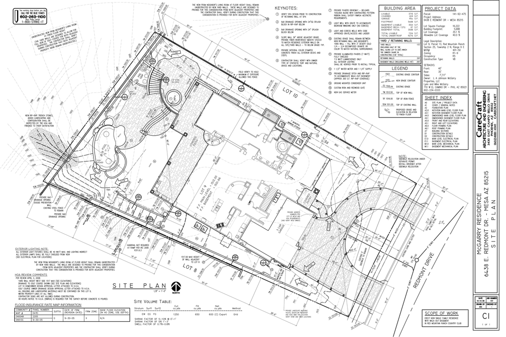 Grading and Drainage Design CutFill ShrinkSwell Site Plan Hole – Site Grading Plan