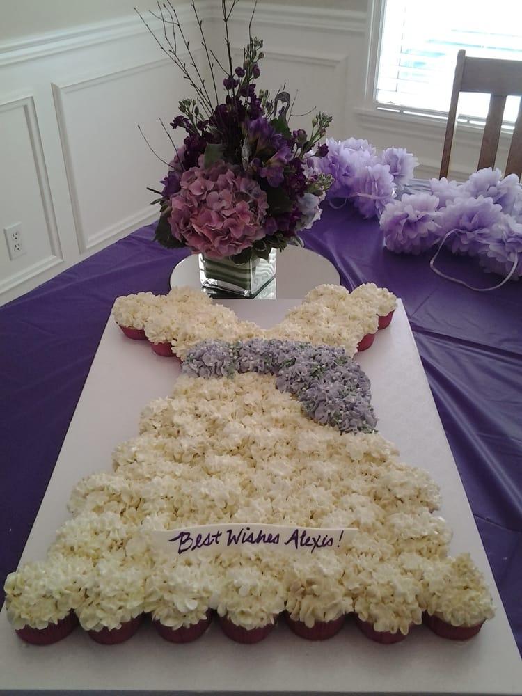 Wedding dress cupcake cake yelp for Wedding dress cupcake cake