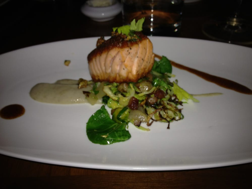 Salmon With Sunchoke And Bacon Lardon Yelp