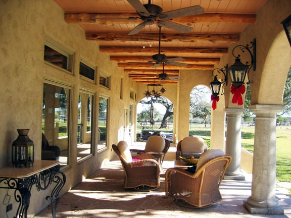 Rear Porch Of Tuscan Home In The Country Yelp