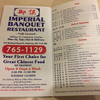 Imperial Banquet Restaurant Kelowna Bc