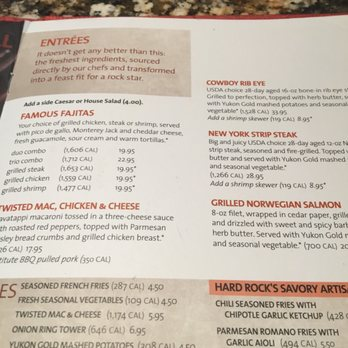 Hard Rock Cafe Nashville Menu Prices