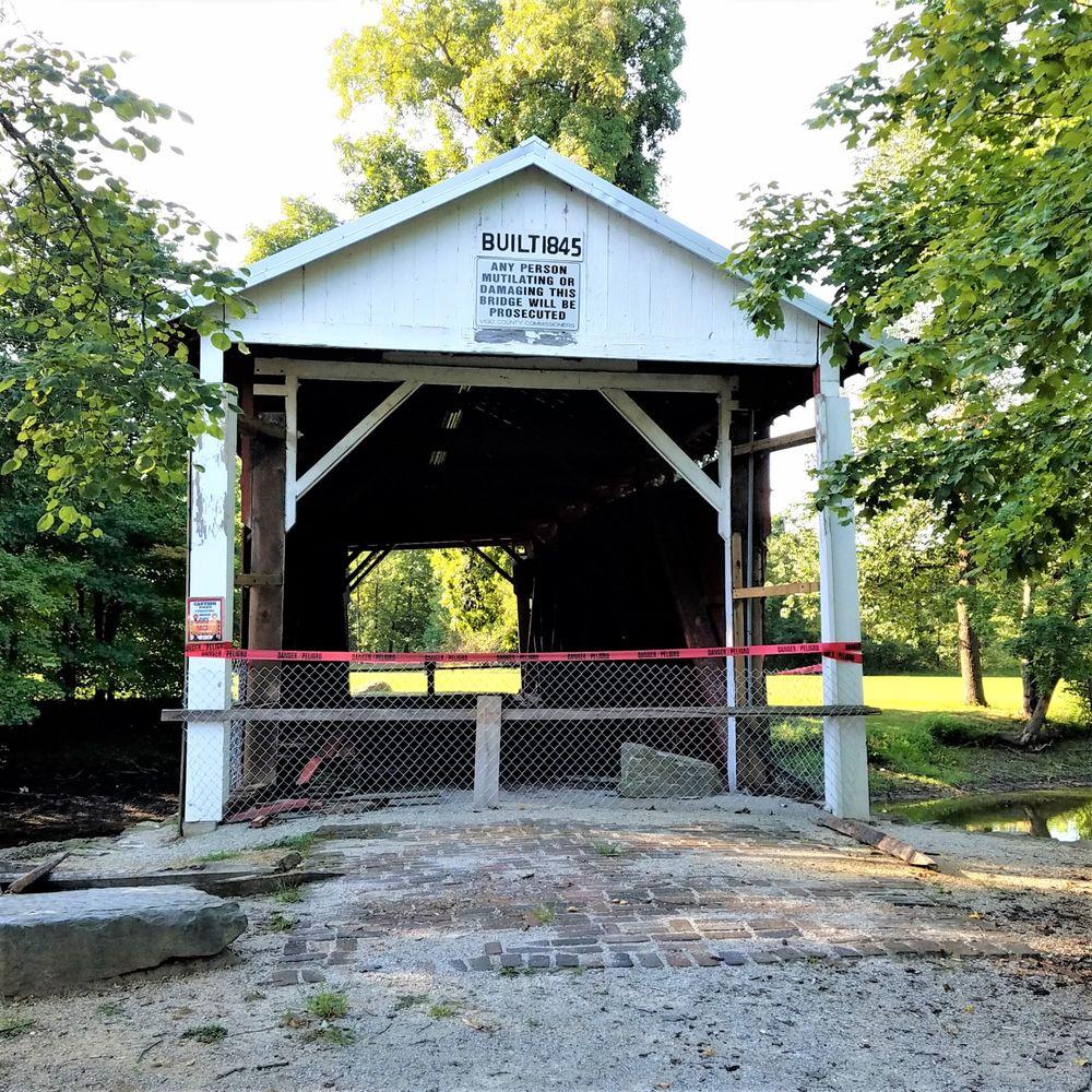 Irishman Covered Bridge: Bono Rd, Terre Haute, IN