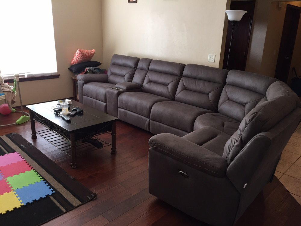 Boulevard Power Reclining Sectional Yelp