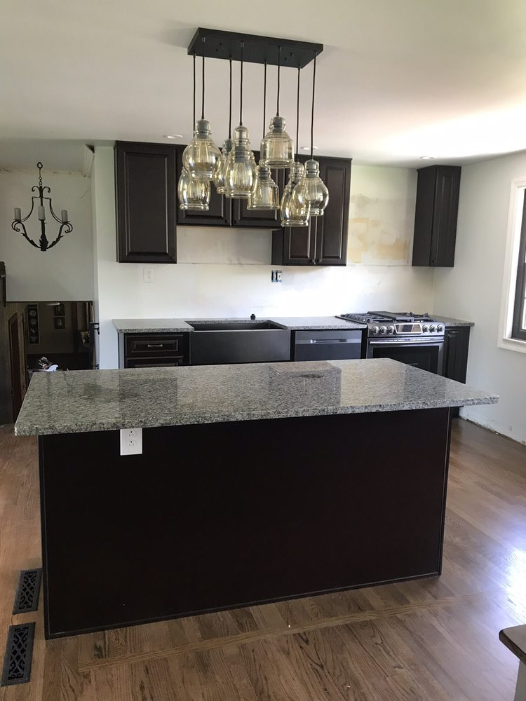 New cabinets and granite / espresso cabinets and oyster ...